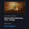 World of Warcraft Игровое время 60 дней подписки