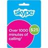 Оригинальный ваучер Skype 25 USD