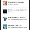 Набор из 4 игр для ps 4 VR RU/EU ФОТО